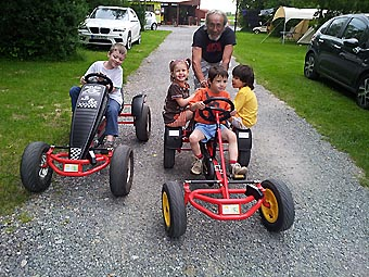 Pedal cars in camping Oase Praha